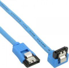 InLine 27705F 0.5m SATA SATA Blauw SATA-kabel
