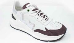 Bruine Womsh - Vegan Wave White Steel - Vegan Sneaker - Wit Maat 40
