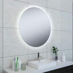 Douche Concurrent Badkamerspiegel Soul Rond 80x80cm Geintegreerde LED Verlichting Verwarming Anti Condens en Touch Schakelaar
