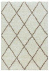 Creme witte Impression Himalaya Harmony Soft Shaggy Hoogpolig Vloerkleed Creme - 80x150 CM