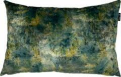 Zippi Design Forest groen Sierkussen Fluweel 40x60 cm kleur blauw groen