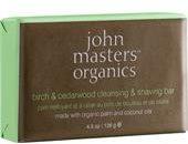 John Masters Organics Körperpflege Reinigung Birch & Cedarwood Cleansing & Shaving Bar 128 g