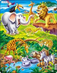 Larsen legpuzzel Maxi dieren op safari 18 stukjes