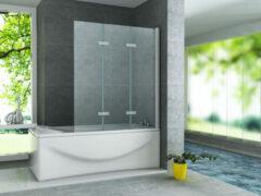 SaniGoods Costa 3-delige badwand 130x140cm chroom