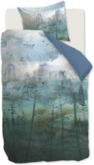 Blauwe Kardol & Verstraten Kardol Epiphany Dekbedovertrek - 1-persoons (140x200/220 Cm + 1 Sloop) - Katoen Satijn - Blue Grey