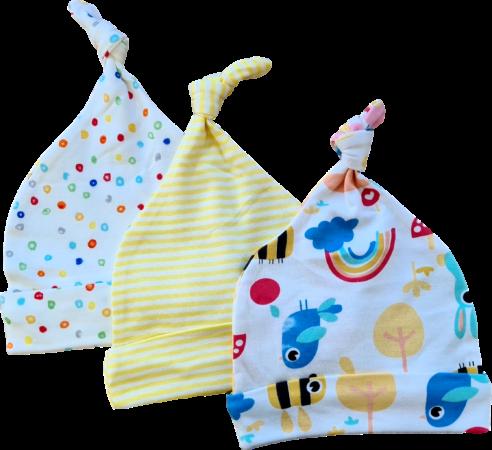 Afbeelding van Babymuts set – Regenboog vogels