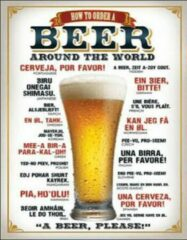 Usa How to order a beer wandbord reclamebord bier