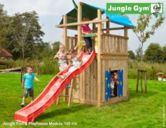 Jungle Gym | Fort + Playhouse Module 145 | DeLuxe | Rood
