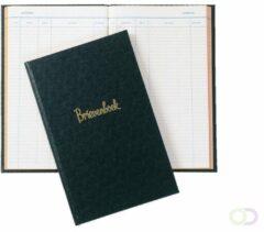 ATLANTA Brievenboek, 330 x 205 mm, gelijmd, gelinieerd, 100 bladzijden, zwart (blok 50 vel)