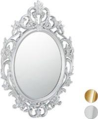 Relaxdays spiegel barrock stijl - sierspiegel gang - wandspiegel - design - wanddecoratie zilver