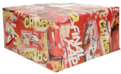 1x Disney inpakpapier Cars champions rood - 200 x 70 cm - cadeaupapier / kadopapier rollen