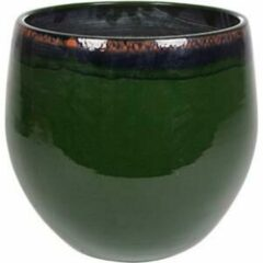 Donkergroene Ter Steege Pot Charlotte groen bloempot binnen 29 cm