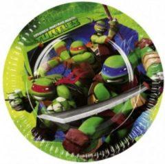 Groene Fun & Feest Party Gadgets Ninja Turtles Papieren bordjes 8 stuks