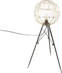 Riverdale Lamp Boston - Staande Lamp - Metaal - Goud/Zwart - 99cm