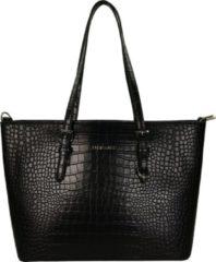 Flora & Co Shoulder Bag Shopper Croco Black
