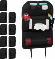 Zwarte Relaxdays 10 x autostoel organizer - auto organizer kind - groot - bescherming stoel