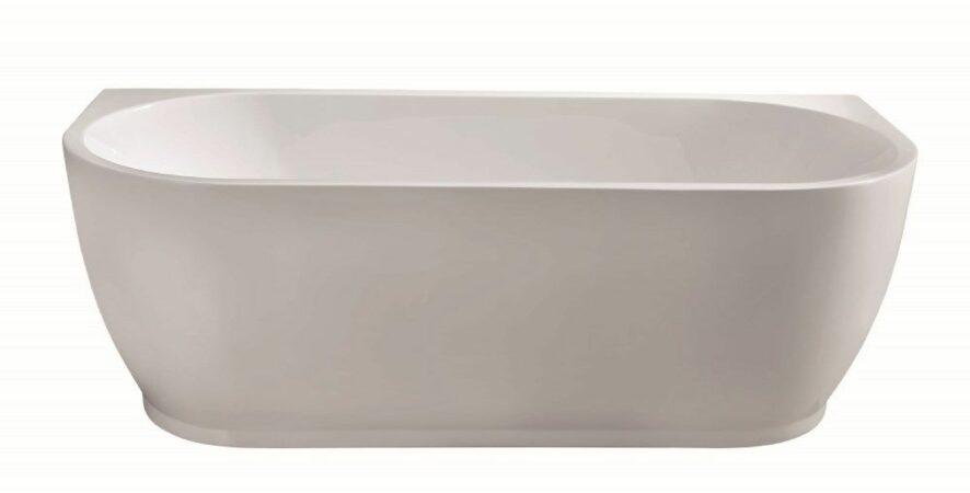 Afbeelding van Douche Concurrent Ligbad Half Vrijstaand Wall Rechthoek 75x170x58cm Glasvezelversterkt Hoogwaardig Acryl Glans Wit met Badwaste en Overloop
