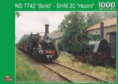 Blauwe Puzzelman Puzzel Stoom trein NS 7742 Bello - SHM 30 `Hoorn`