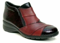 Bordeauxrode Boots en enkellaarsjes Claudia by Rieker