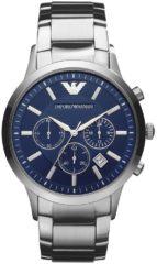 Zilveren Emporio Armani AR2448 - Horloge - 42 mm - Staal - Zilverkleurig