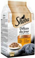 12x Sheba Delices du Jour Multipack Gevogelte 6 x 50 gr