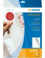 HERMA Photo cardboard 230x297 mm white 25 sheets (7578)