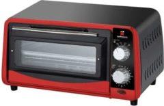 Dynamic24 Hoffmanns Miniofen Ofen mit Timer Pizzaofen Minibackofen Backofen Pizzaofen rot