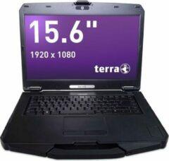 """Zilveren Terra Mobile Industry 1583 15.6"""" rugged laptop, Intel Core i5-8265U, 500GB SSD, seriele poort (RS-232), Windows 10 Pro"""