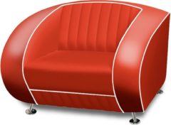 Bel Air Retro Fauteuil SF-01 Rood - Bel Air Retro Fauteuil SF-01 Rood