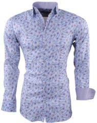 Grijze Montazinni heren overhemd peacock stretch