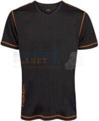 RSL T-shirt Badminton Tennis Zwart/Oranje maat XS