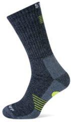 Stapp Sok Bamboo Donkergrijs met Geel - Bamboe werk sokken - schoenmaat 47 tot 50