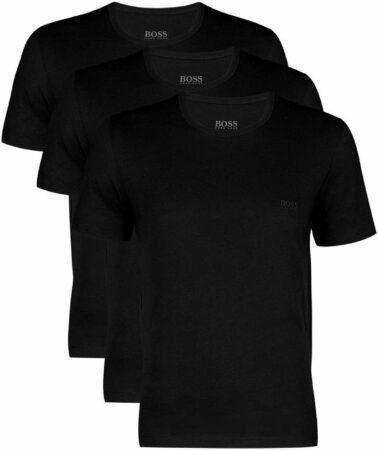 Afbeelding van Blauwe Actie 3-pack: Hugo Boss T-shirts Regular Fit - O-hals - zwart - Maat XL