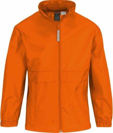 Afbeelding van Merkloos / Sans marque Windjas/regenjas voor jongens oranje maat 98/104