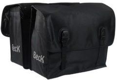 Zwarte Beck Classic Jeans black dubbele fietstas 46 liter
