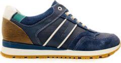 Australian Navarone Sneakers Blauw Cognac Wit Heren Sneakers - Blauw - maat 47