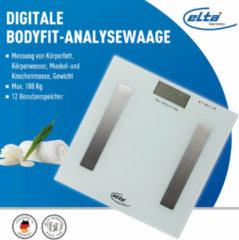 Witte Elta Digitale Body-fit personenweegschaal max 180kg - Weegschaal - Digitale personenweegschaal-Gezondheid-Fitness-Lichaamsgewicht