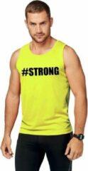 Shoppartners Neon geel sport shirt/ singlet #Strong heren XL