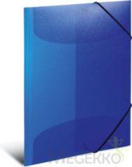 HERMA 19507 Elastomappen A4 PP transparent donkerblauw