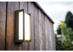 Lutec Qubo 5193001118 Buiten LED-wandlamp Energielabel: LED (A++ - E) 18 W Warm-wit Antraciet