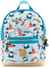Blauwe Pick&Pack Pick & Pack Rugzak Birds S Dusty Blue