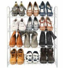 Grijze Tomado - Metaltex Tomado Metaltex - Shoe 4 schoenenrek voor 12 paar schoenen