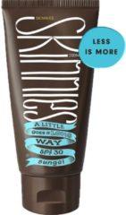 Skinnies Sungel SPF30 - Zonnebrand Gel voor Gezicht en Lichaam - Transparant, Waterproof en Parfumvrij - 200ml