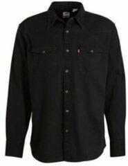 Zwarte Levi's regular fit denim overhemd Barstow Western marble black
