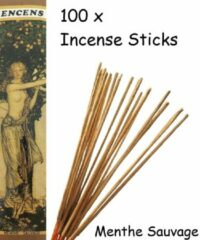 Mysore Menthe Sauvage Wierook 100 Stuks Incense sticks - 25cm