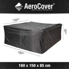 Antraciet-grijze Tuinmeubelhoes Tuinset 160x150xh85 - Aerocover
