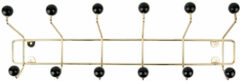 Gouden PT LIVING Hat rack Saturnus large gold w. black balls