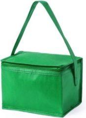 Merkloos / Sans marque Kleine mini koeltasjes groen sixpack blikjes - Compacte koelboxen/koeltassen en elementen