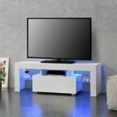 En.casa Tv meubel Grimsey met led verlichting 130x35x45 cm wit