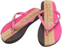 Sinner Capitola Women Dames Slippers - Donker roze/Licht bruin - Maat 36